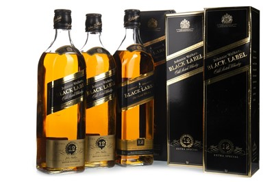 Lot 408-THREE BOTTLES OF JOHNNIE WALKER BLACK LABEL 12 YEARS OLD
