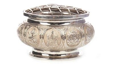 Lot 1002-A MALAYSIAN SILVER ROSE BOWL