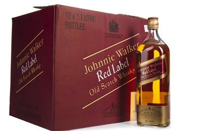 Lot 51-TWELVE 1.125 LITRE BOTTLES OF JOHNNIE WALKER RED LABEL