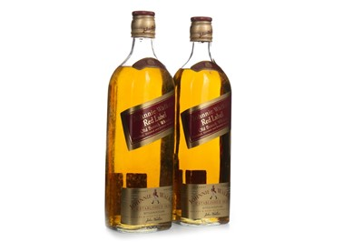 Lot 412-TWO BOTTLES OF JOHNNIE WALKER RED LABEL