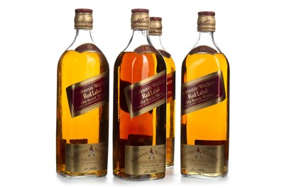 Lot 413-FOUR BOTTLES OF JOHNNIE WALKER RED LABEL