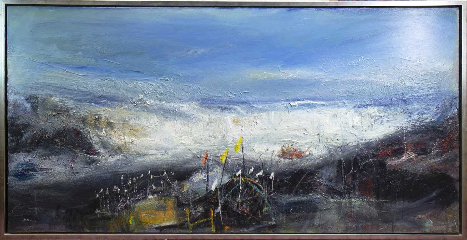 Lot 561-AUCHMITHIE, AN OIL BY NAEL HANNA