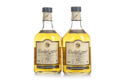 Lot 29-TWO BOTTLES OF DALWHINNIE 15 YEARS OLD CASK STRENGTH CENTENARY