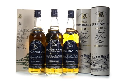 Lot 309-THREE BOTTLES OF ROYAL LOCHNAGAR 12 YEARS OLD