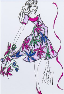Lot 702-AN ORIGINAL ILLUSTRATION OF DESIGNS FOR LAURA ASHLEY BY ROZ JENNINGS