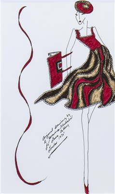 Lot 704-AN ORIGINAL ILLUSTRATION OF DESIGNS FOR LAURA ASHLEY BY ROZ JENNINGS