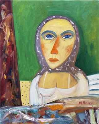 Lot 705-WOMAN OF THE NORTH, AN OIL BY JOHN BELLANY