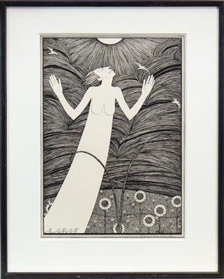 Lot 543-SUN, A SIGNED LITHOGRAPH BY HANNAH FRANK