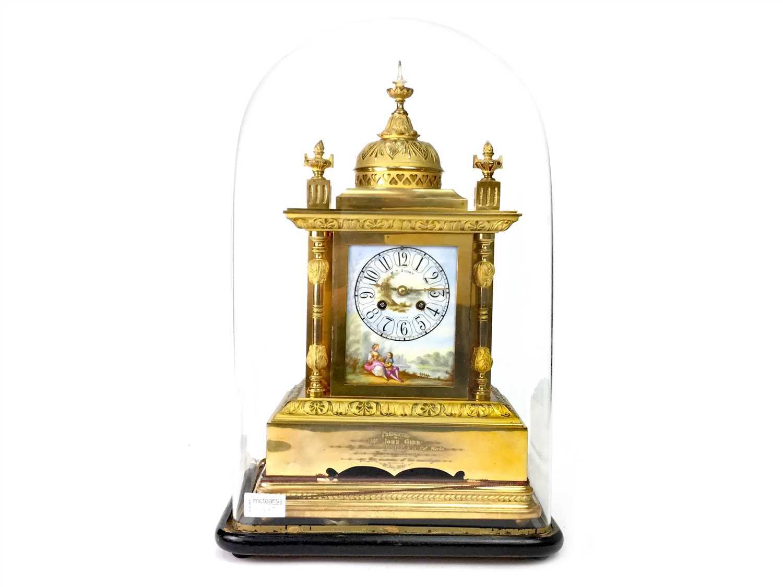 Lot 1389-A 19TH CENTURY ORMOLU MANTEL CLOCK