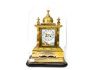 Lot 1389-A 19TH CENTURY ORMOLU MANTEL CLOCK