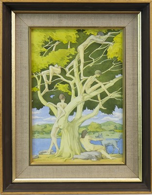 Lot 528-THE TREE OF YOUTH, A WATERCOLOUR BY JAMES GORMAN
