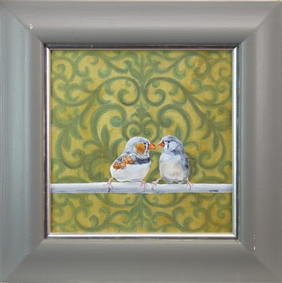 Lot 523-TWITTER, AN OIL BY STANLEY BIRD