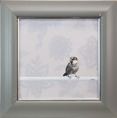 Lot 530-PERCHED BIRD, AN OIL BY STANLEY BIRD