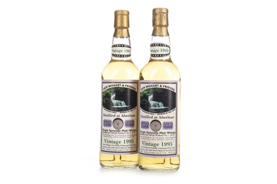 Lot 43-TWO BOTTLES OF ABERLOUR 1991 SINGLE CASK AGED 11 YEARS