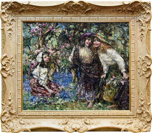 Lot 1225-EDWARD ATKINSON HORNEL (SCOTTISH 1864 - 1933),...