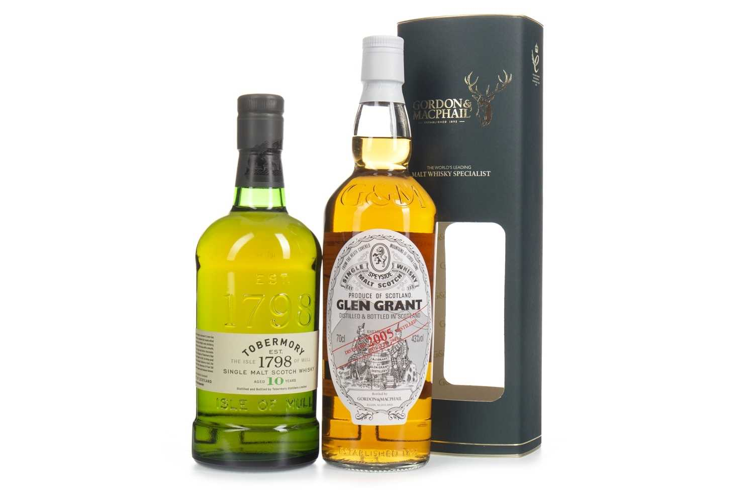 Lot 317-GLEN GRANT 2005 AND TOBERMORY AGED 10 YEARS