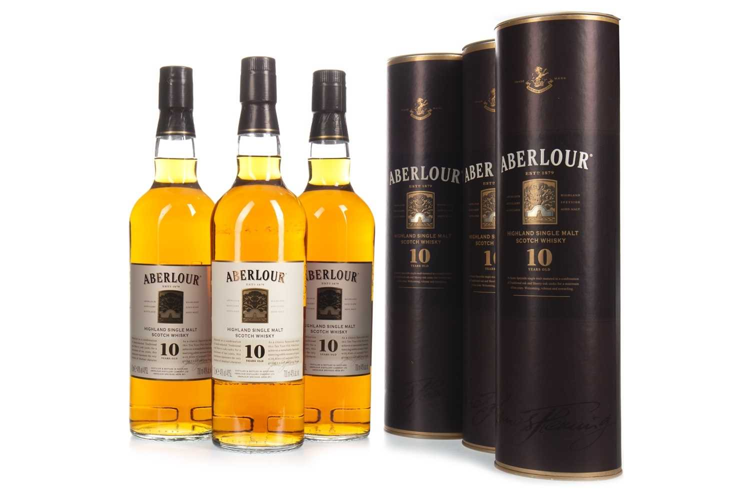 Lot 318-THREE BOTTLES OF ABERLOUR 10 YEARS OLD