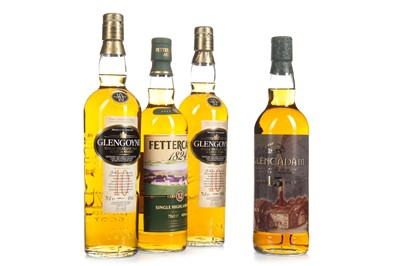 Lot 322-TWO GLENGOYNE 10 YEARS OLD, ONE GLENCADAM 15 YEARS OLD AND ONE FETTERCAIRN 12 YEARS OLD