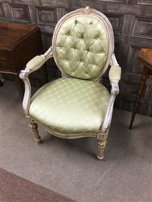 Lot 1693-A FRENCH STYLE ARMCHAIR