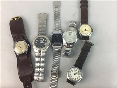 Lot 75A - A LOT OF SIX GENT'S WATCHES