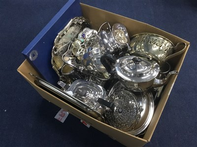 Lot 80A - A LOT OF SILVER PLATED WARE