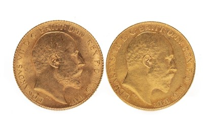 Lot 546-TWO GOLD HALF SOVEREIGNS 1903  AND 1907