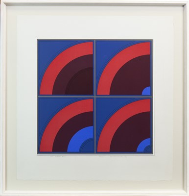 Lot 522-RED QUARTER ARC, A COLOUR PRINT BY GORDON HOUSE