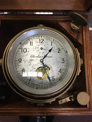 Lot 1393-AN EARLY TO MID-20TH CENTURY SHIP'S MARINE CHRONOMETER BY THOMAS MERCER OF ST. ALBANS