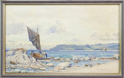 Lot 466-SANNOX FROM KINTYRE, A WATERCOLOUR BY PETER MACGREGOR WILSON