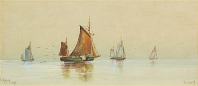 Lot 470-A PAIR OF WATERCOLOURS BY W DAVY