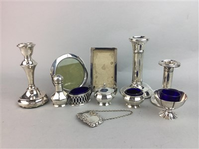 Lot 1-A LOT OF SMALL SILVER ITEMS