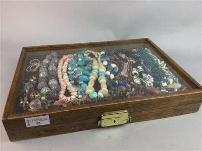 Lot 15-A COLLECTION OF BEAD NECKLACES