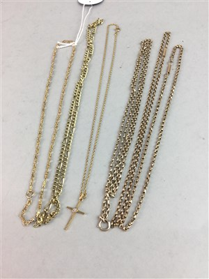 Lot 3-A LOT OF GOLD AND OTHER NECK CHAINS