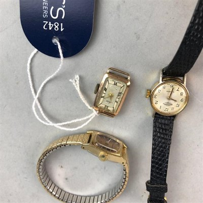 Lot 12-A LADY'S AVIA GOLD WATCH, A ROTARY WATCH AND A SEIKO WATCH