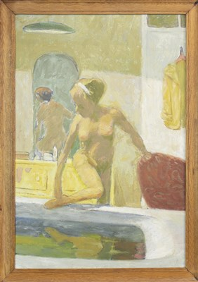 Lot 460-NUDE WITH A RECORD PLAYER, BY MARTIN BAILLIE
