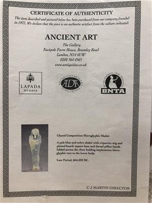 Lot 1133-AN EGYPTIAN SHABTI