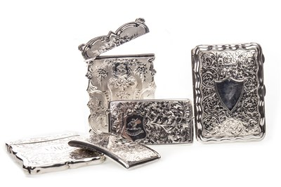 Lot 945 - A LOT OF FIVE SILVER CARD CASES