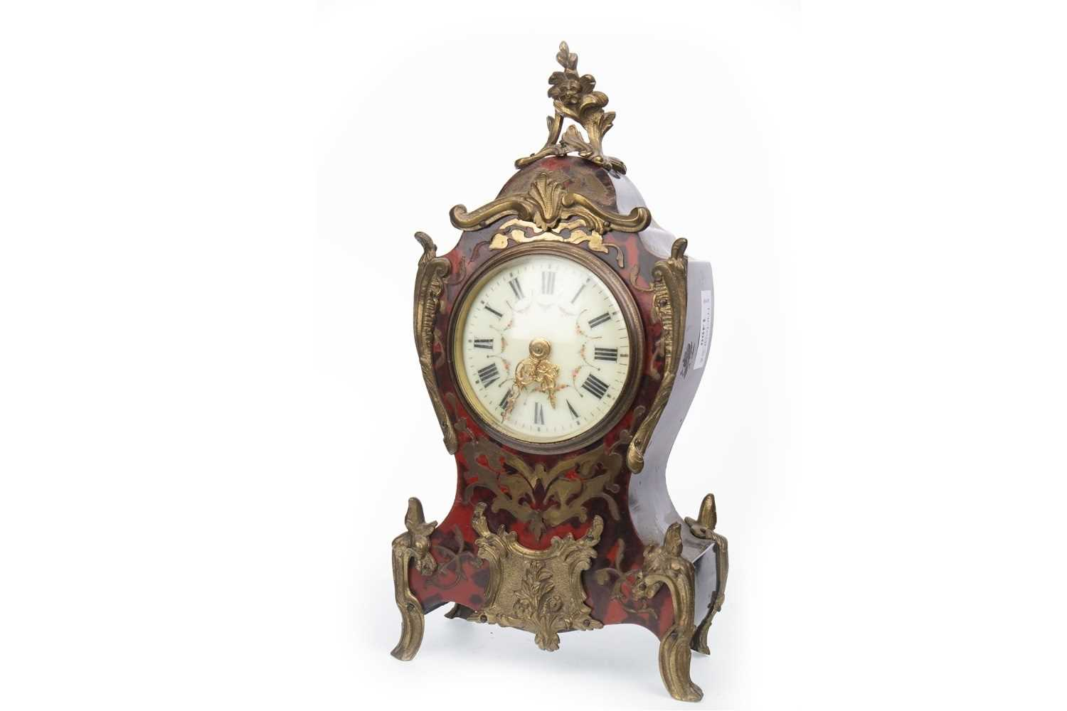 Lot 1400-A LATE 19TH CENTURY BOULLE MANTEL CLOCK