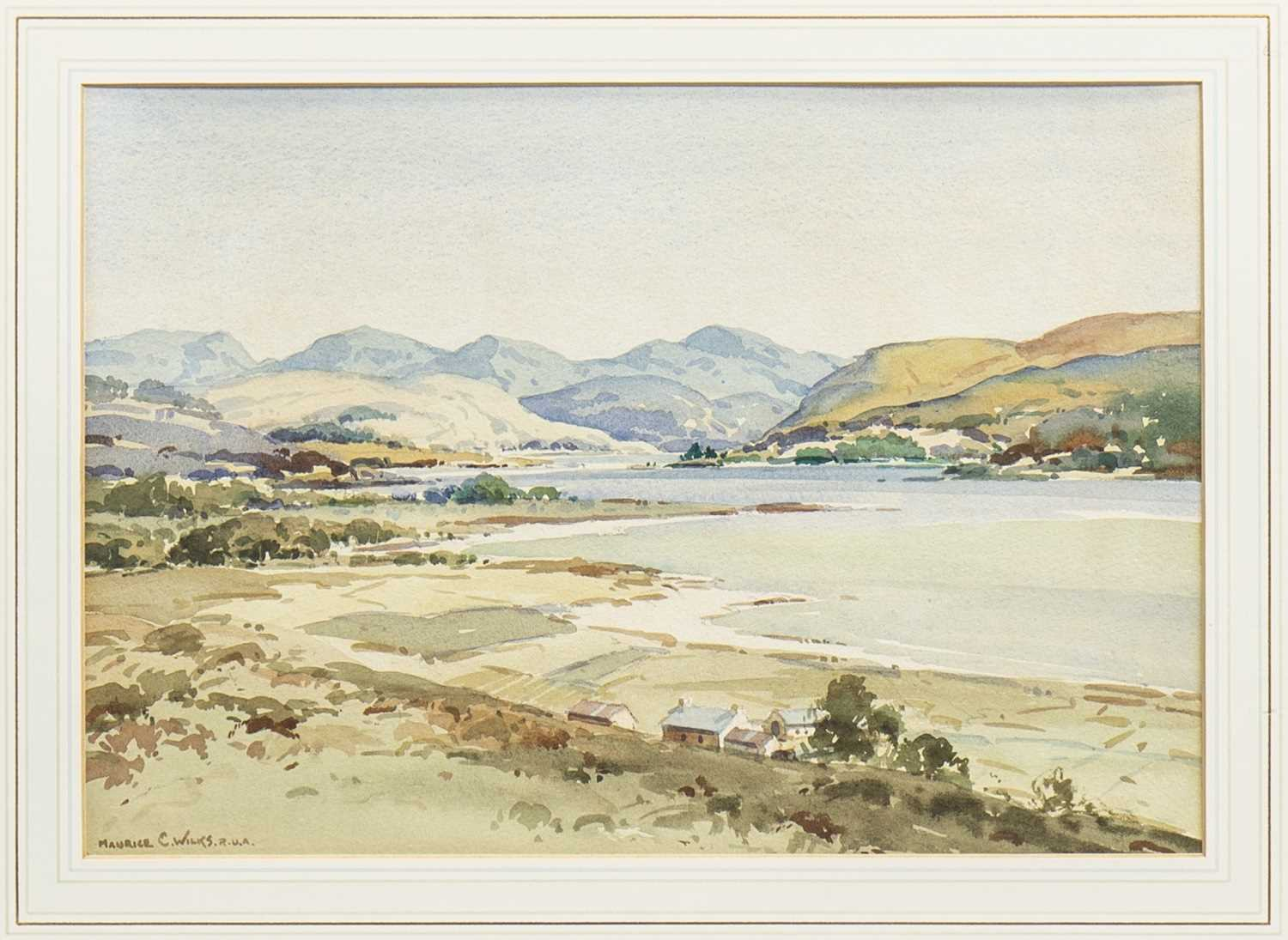 Lot 449-COASTAL SCENE, A WATERCOLOUR BY MAURICE CANNING WILKS