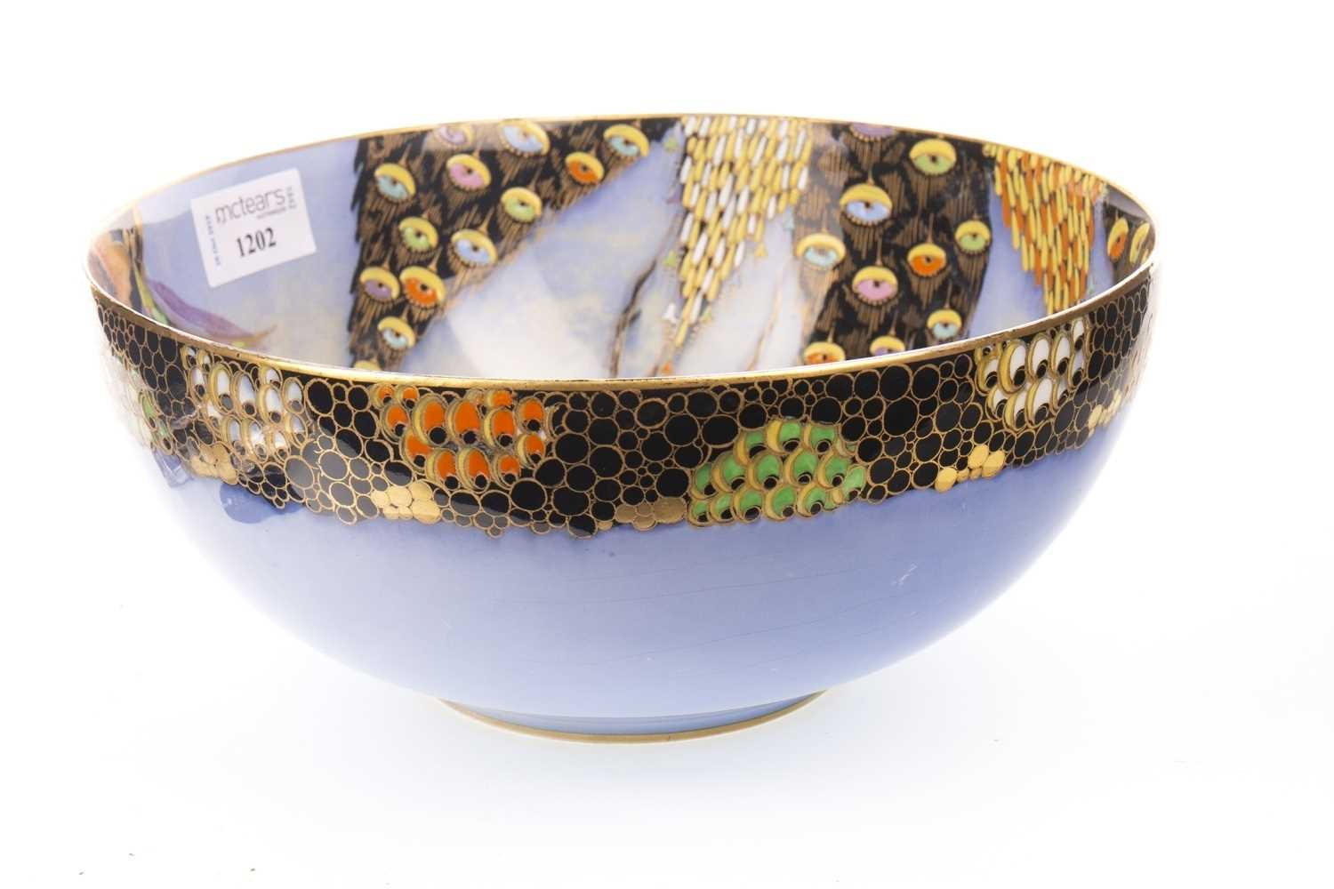 Lot 1202-A CARLTON WARE 'DEVILS COPSE' PATTERN BOWL
