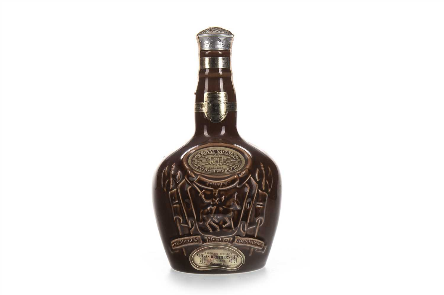 Lot 417-CHIVAS REGAL ROYAL SALUTE 21 YEARS OLD - BROWN FLAGON