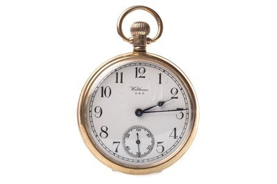 Lot 787-A WALTHAM NINE CARAT GOLD POCKET WATCH