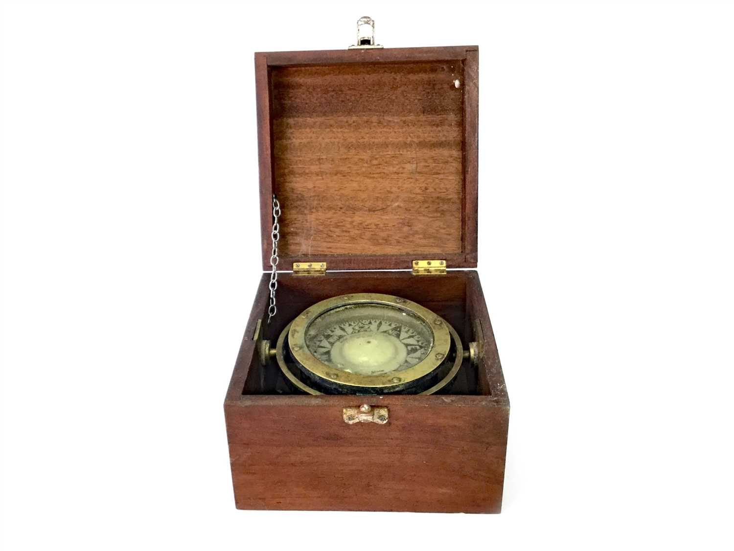 Lot 1398-AN EARLY 20TH CENTURY MARINE COMPASS  BY ROBB MOORE & NEIL LTD.