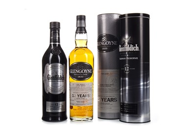 Lot 339-GLENFIDDICH CAORAN RESERVE AGED 12 YEARS AND GLENGOYNE 12 YEARS OLD