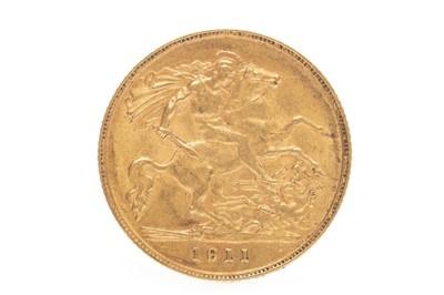 Lot 548-A GOLD HALF SOVEREIGN, 1911