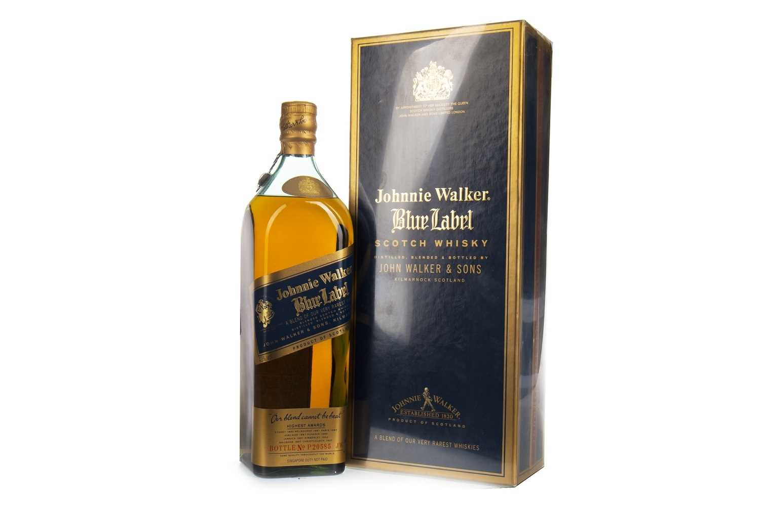 Lot 420-JOHNNIE WALKER BLUE LABEL - ONE LITRE