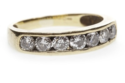 Lot 6-A DIAMOND HALF ETERNITY RING
