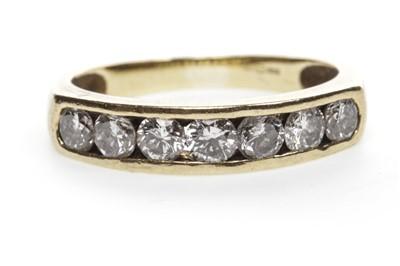 Lot 6-A DIAMOND HALF ETERNITY RING