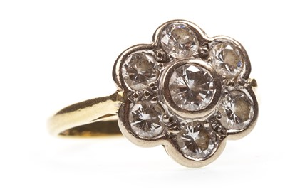 Lot 2-A DIAMOND CLUSTER RING