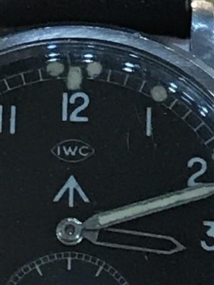 Lot 752-A GENTLEMAN'S IWC MILITARY WRIST WATCH